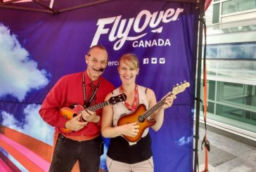 Busking for Awareness in Davie Village: TeeJay and his Ukulele