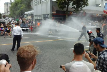 Pride Parade Epic Water Battle with Vancouver Firefighters